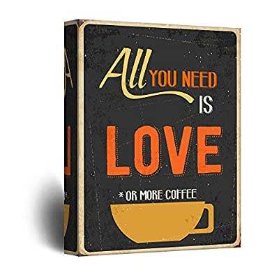 Canvas Wall Art - Vintage Poster Style Coffee Art - Giclee Print Gallery Wrap Modern Home Art Ready to Hang - 16x24 inches