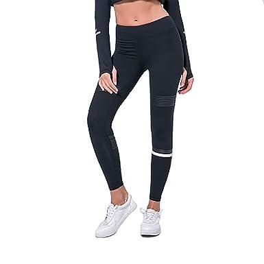 BALALALA Pantalón de yoga para mujer Cintura alta, Mallas ...