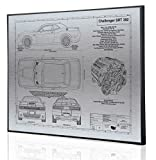 Dodge Challenger SRT 392 Blueprint Artwork-Laser Marked & Personalized-The Perfect Dodge Gifts