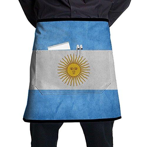 ZhiqianDF Argentina Flag Classic Servers Black One Size Apron With - Ray Argentina