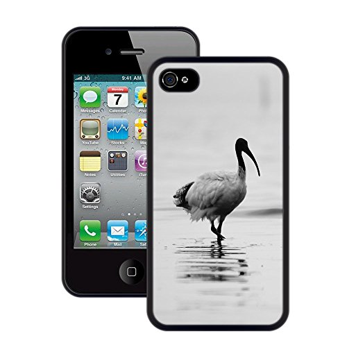 Seevogel | Handgefertigt | iPhone 4 4s | Schwarze Hülle