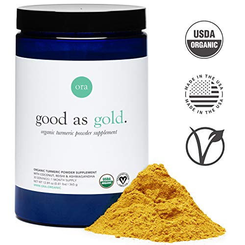 Ora Organic Golden Milk – Turmeric Powder Supplement with Ashwagandha, Reishi and Ginger, Vegan, Non-GMO – Full Size