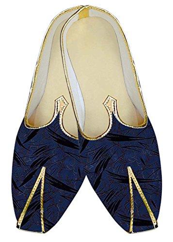 Navy Designs Mens MJ10438 Dark Shoes Navy Wedding Polyester Black INMONARCH Dark ZxvwPpq7q
