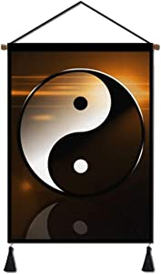 Fashion Wall Art Hanging Poster, Yin Yang Taichi Art Canvas Artwork Prints for Home Office Decoration - Living Room Bedroom Ready to Hang (18''Wx26''H)