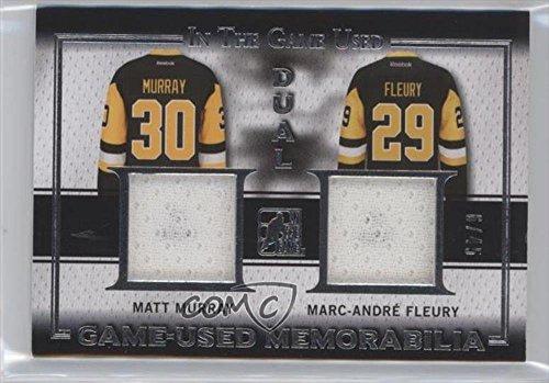 Matt Murray; Marc-Andre Fleury #6/45 (Hockey Card) 2015-16 Leaf In the Game Used Game-Used Memorabilia Dual #GD-03
