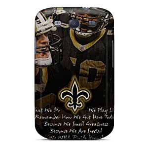 DrawsBriscoe Samsung Galaxy S3 Shock Absorbent Hard Phone Covers Provide Private Custom Nice New Orleans Saints Pattern [fCj16821UaSa]