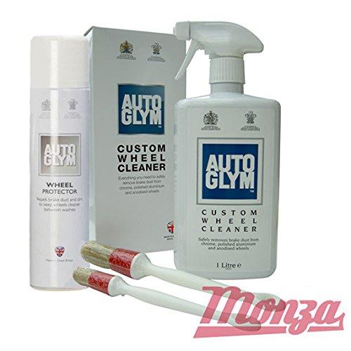 Autoglym Kit de nettoyage complet avec mastic et cire pour jantes en alliage de voiture/moto