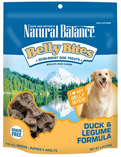Natural Balance Belly Bites Grain Free Dog Treats, Duck & Legume Formula, 6-Ounce