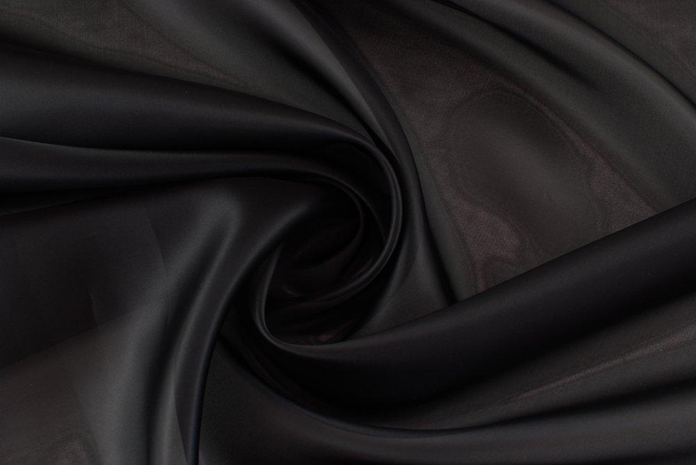 Tessuto al metro Gazar di pura seta nera