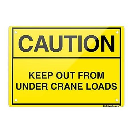 Cartel de Aluminio con Texto en inglés Caution Keep out from ...