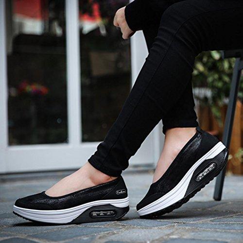 Baskets Plates Comfort Platform Pas Noir Enfiler Cher chaussures Tennis Été Femme Trainers Soldes À Sneakers Talons Overdose Automne PZ1WnfU
