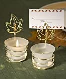 Set of 36 Autumn-Inspired Place Card Holder Candle Favors