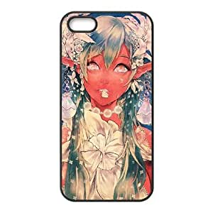 HD exquisite image for iPhone 5 5s Cell Phone Case Black anime nymph MIO9251603