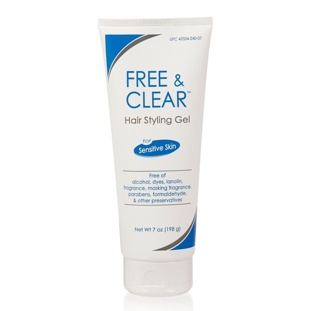 Free & Clear Hair Styling Gel | Fragrance and Gluten Free | For Sensitive Skin | 7 Ounce