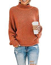 BLENCOT Women's Color Block Long Sleeve Tunic Sweatshirt Tops Kangaroo Pocket