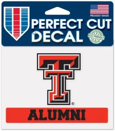 Wincraft NCAA Official Texas Tech University Red Raiders ALUMNI 4x5 Perfect Cut Decal