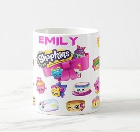 Shopkins ml taza personalizada taza de cerámica