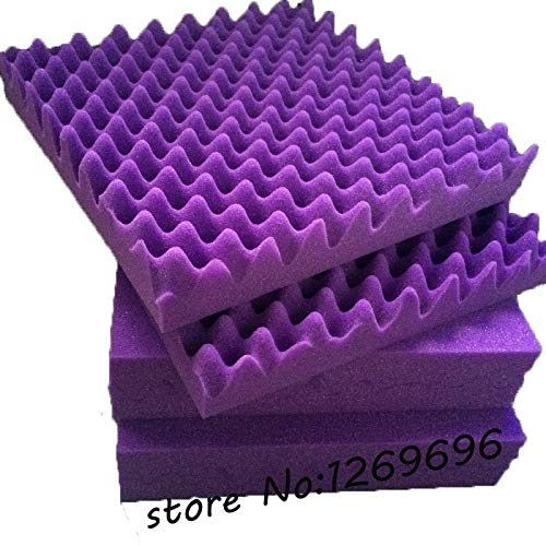 Love^Store - Wall Stickers - Wave Sound Insulation Auditorium Acoustic Panel, Purple Eggcrate Foam - by Love^Store - 1 PCs ()