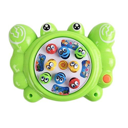 Électronique Toy pêche mis en rotation Gibier With Music, Crabe vert