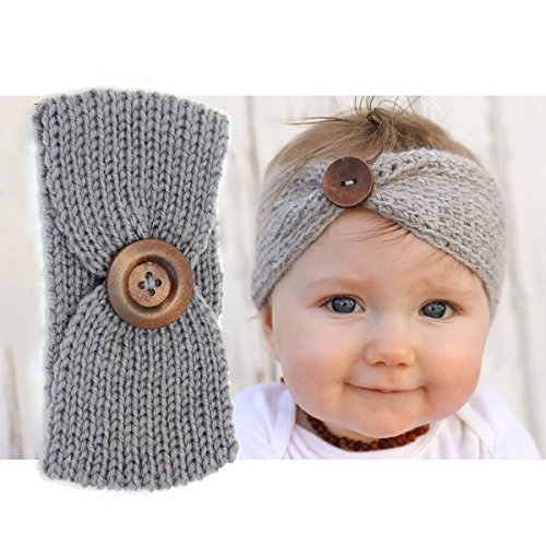 a3f2a28cd Ranipobo 6 Pack Baby Girl Knit Crochet Turban Headband Warm ...