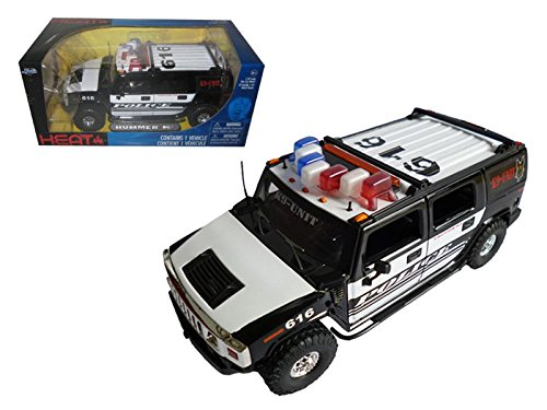 Jada 53549-K9 Hummer H2 High Profile Police K-9 Unit 1/24 Diecast Car Model