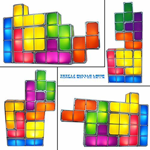 Novelty Lamp Crossword : Tetris Puzzle Desk Lamp LED Constructible Block Table Decorative Stackable Night Light- Novelty ...