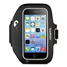 Belkin Sport-Fit Plus Armband for iPhone 5, 5S, 5C and iPod Touch 5th Generation, Blacktop/Overcast