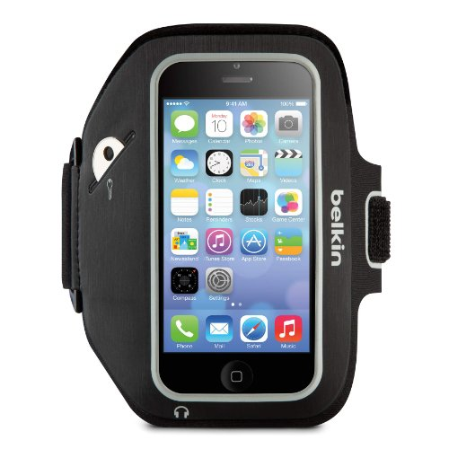 - Belkin Sport-Fit Plus Armband for iPhone 5 / 5S / 5c / SE (Black / Overcast)