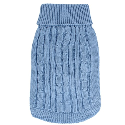 Cheap uxcell Ribbed Cuff Knitwear Pet Warm Apparel Sweater, Light Blue, Small