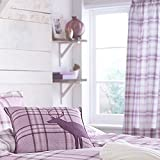 Catherine Lansfield Kelso Curtains - Heather