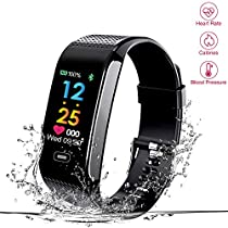 Fitness Tracker, Read R18s Heart Rate Monitor Smart Bracelet Heart Tracker with Camera Remote Shoot Colorful Screen, IP67 Waterproof Activity Fitness Wristband Pedometer for Bluetooth Android and iOS