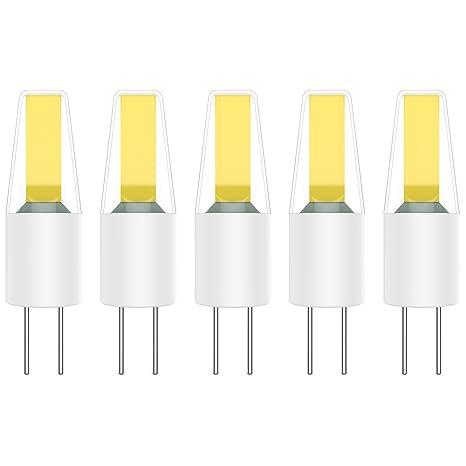 Paquete de 5 Bombillas LED G4 Lámpara LED 2W COB LED Lámpara Bombilla Blanco Frío 6000K LED Bulb 200LM AC/DC12V