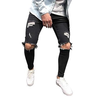 Amazon.com: Mr.Macy - Pantalones vaqueros ajustados para ...