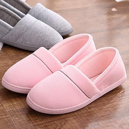 Maison B Anti Pantoufles Coton Slip Lavable Maison Baosity Femmes FqrHXF