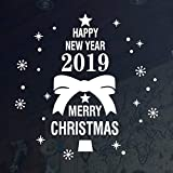 2019 Merry Christmas Window Cling Wall Stickers