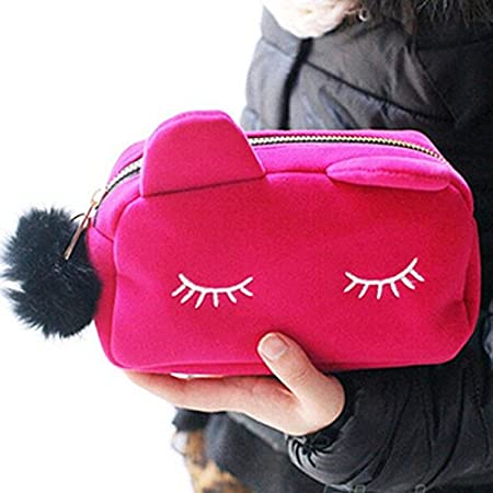 Doitse - Neceser para mujer, peluche de gran calidad, diseño de gato, gran capacidad para guardar tus cosméticos, 5 colores disponibles Doitsa
