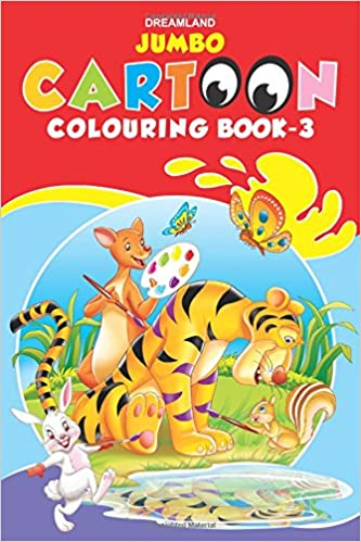 buy jumbo cartoon colouring book 3 jumbo cartoon colouring books book online at low prices in india jumbo cartoon colouring book 3 jumbo cartoon - Jumbo Coloring Book
