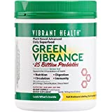 Vibrant Health - Green Vibrance - Plant-Based Daily Superfood + Probiotics and Digestive Enzymes, 60 servings (FFP)