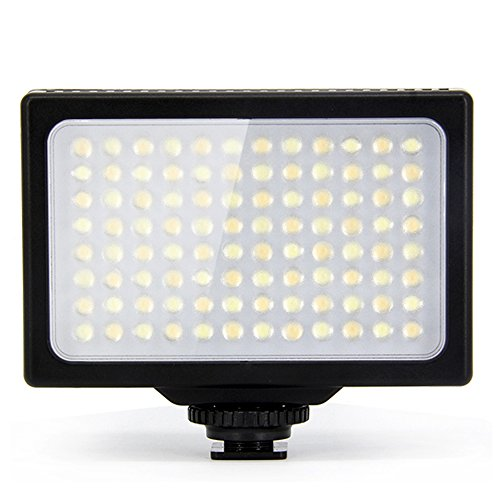 LP¨ LED Camera/Video Light,LP LED-1096_48PCS, Dimmable,Panel Light/with 2Pcs 18650 Rechargeable Batteries & USB