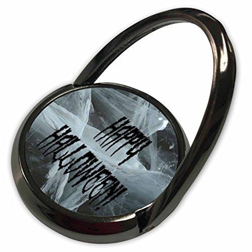 3dRose Sandy Mertens Halloween Words - Spider Leg Happy Halloween and Eerie Background - Phone Ring -