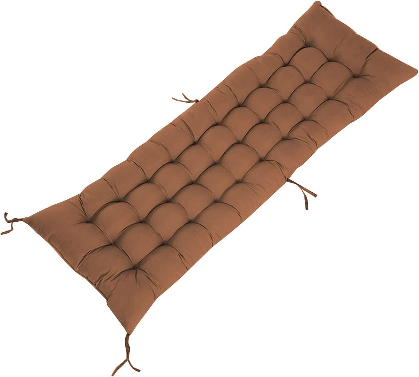 FORESTIME Bench Cushion Swing Cushion for Lounger Garden Furniture Patio Lounger,Lawn & Garden Patio Seating Cushions Indoor/Outdoor Pillows (Coffee)