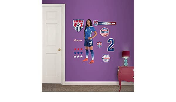 Fathead Peel and Stick Decals Copa del Mundo fútbol Estados Unidos Sydney Leroux Junior para pared: Amazon.es: Deportes y aire libre