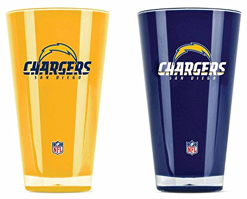 San Diego Chargers Official NFL 20 fl. oz. Tumbler Cup Set by Duck House