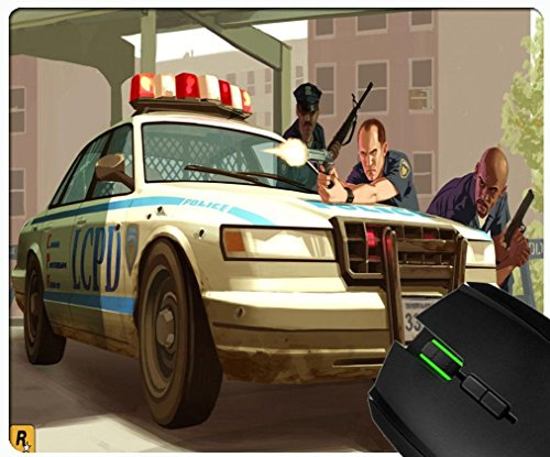 Lcpd Gta 4 Police Custom rectangular rubber non-slip and durable fashion mouse pad (Grand Theft Auto Lcpd compare prices)