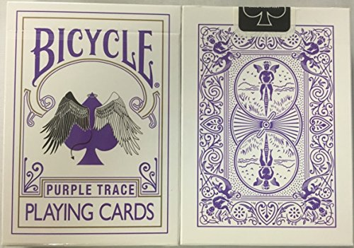 Bicycle Purple Trace Playing Cards Angel Devil Design
