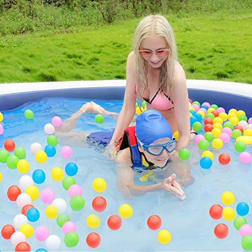 OlarHike 85 x 22 Extra Large Family Inflatable Pool for Ages 3+, Blue & White
