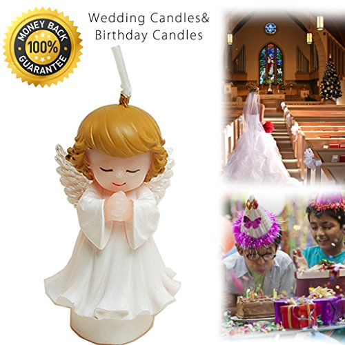 Creative Birthday Candles,Wedding Candles for Cake Topper,Wedding Fun for Guests,Marriage Gifts,Decoration,Baby Shower,Family Dinners,Christmas Festival,Outdoor Camping -Angel-Girl 1 PCS
