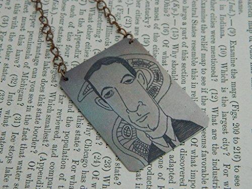 H.P. Lovecraft necklace Artist jewelry James D Collins