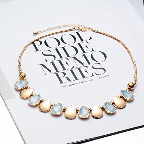 Oaonnea Women Gold Chains Choker Necklace Water Drop Pendant Statement Collar Necklaces (waterdrop necklace) by Oaonnea (Image #4)