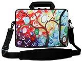 AUPET 11' 11.6' 12' 12.5' 12.9' 13-13.3 inch Neoprene Laptop Sleeve Bag Carrying Messenger Bag with Outside Handle and Adjustable Shoulder Strap & External Side Pocket, for ASUS/HP/DELL/Acer